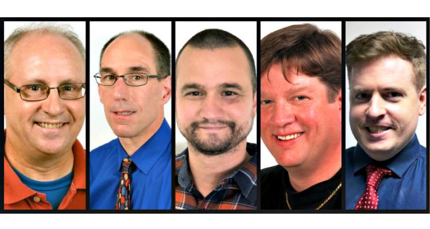 From left: Mike MacAdam, John Cropley, Michael Kelly, Marc Schultz and Jason Subik. (Gazette photos)