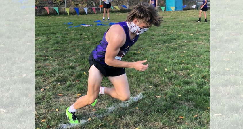 Amsterdam's Trevor Dzikowicz starts his race during a cross country meet on Wednesday at Broadalbin-Perth High School. (Adam Shinder/Staff Writer)