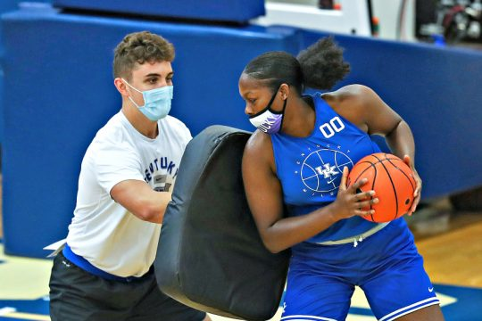 Olivia Owens, right, was granted an NCAA waiver earlier this week. (Photo courtesy Kentucky Athletics)