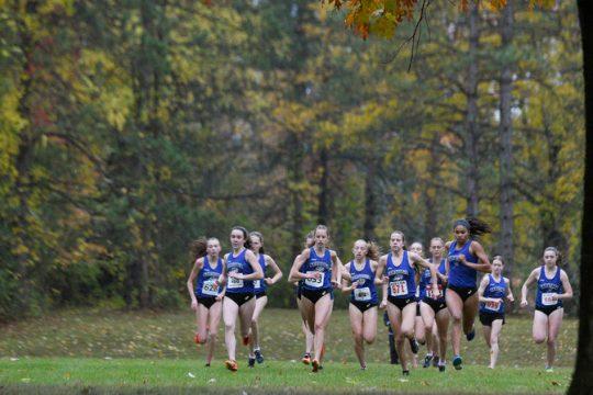 ERICA MILLER/STAFF PHOTOGRAPHER Start of Saratoga Springs girls cross country meet against Burnt Hills- Ballston Lake Friday