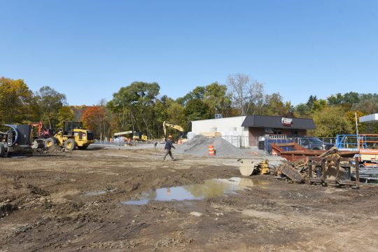 Construction continues at the new Stewart'€s convenience store at 571 Sacandaga Road in Glenville on Thursday. (Erica Miller/Staff Photographer)
