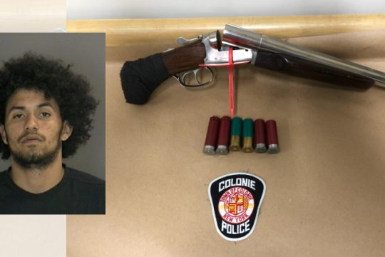 Vazquez and the sawed-off shotgun (Colonie Police Department)