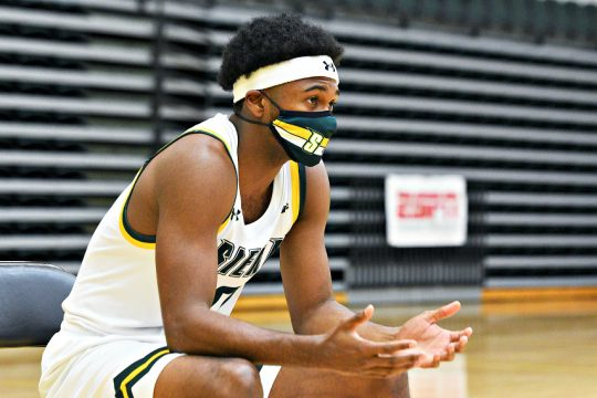 Nick Hopkins is shown Tuesday during Siena men's basketball's media day in Loudonville. (Erica Miller)
