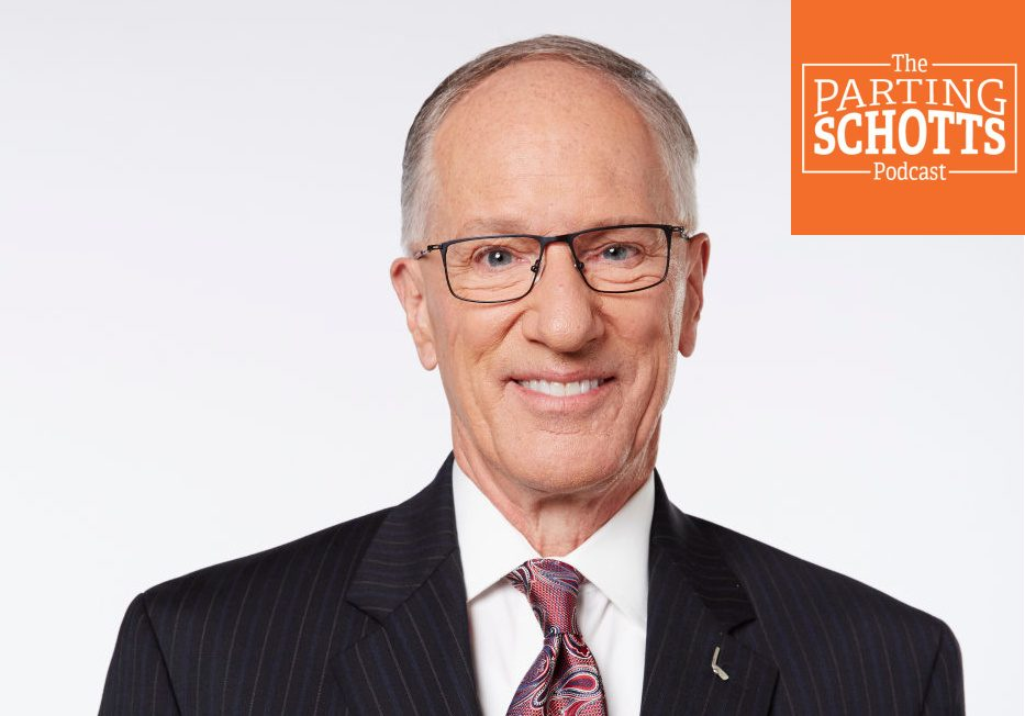 """NBC Sports PhotoNHL on NBC broadcaster Mike Emrick discusses his retirement after 50 years covering hockey on the latest edition of """"The Parting Schotts Podcast."""""""