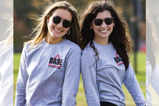 Niskayuna High School students Cat Schiavi, left, and Brooke Dempsey are pictured on Thursday.