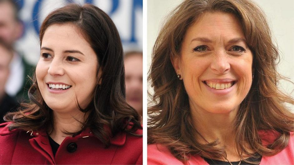Elise Stefanik, left, and Tedra Cobb, right