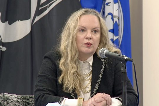 ALBANY COUNTY VIA YOUTUBEAlbany County Health Commissioner Dr. Elizabeth Whalen speaks during the county's COVID-19 briefing Friday, Oct. 30, 2020.