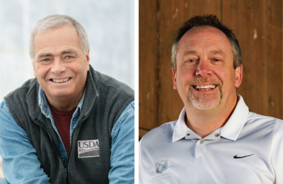 Jim Barber, left, and Peter Oberacker.