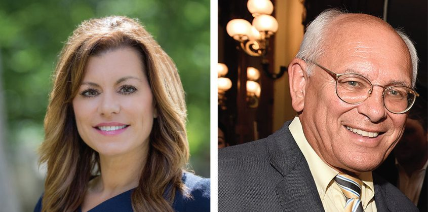 Liz Lemery Joy, left, and Paul Tonko. Credits: Provided (left) Erica Miller/Staff (right)