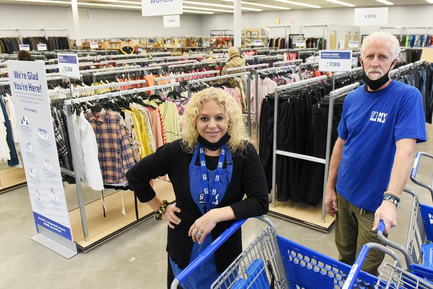 Goodwill store in Guilderland's Assistant Manager Crystal Reedy and Store Manager Jim Jablonowski inside their newly opened store off Western Ave in Guilderland Thursday. Credit: ERICA MILLER/STAFF PHOTOGRAPHER