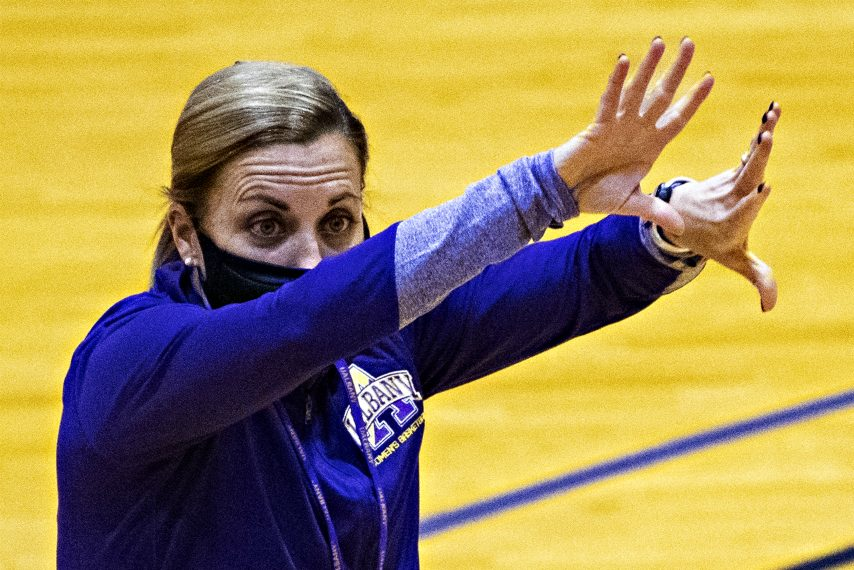 UAlbany women's basketball head coach Colleen Mullen. (Gazette file photo)