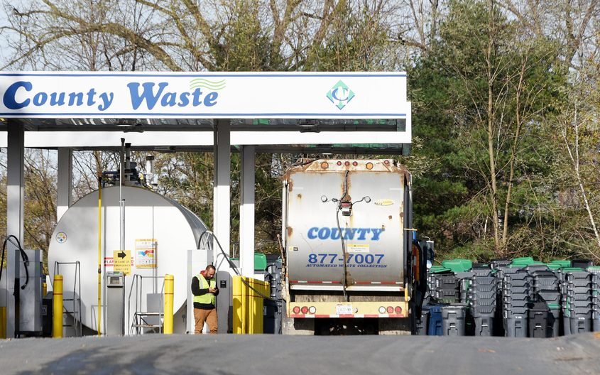 ERICA MILLER/STAFF PHOTOGRAPHER County Waste's headquarters off Route 9 in Clifton Park is shown Tuesday.