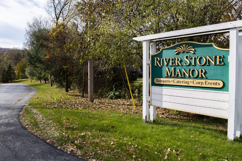 PETER R. BARBER/STAFF PHOTOGRAPHERThe Riverstone Manor entrance at 1437 Amsterdam Road in Glenville Thursday.