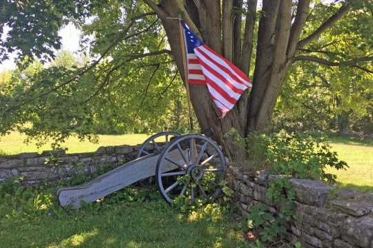 Photo submittedFort Klock's cannon is pictured prior to last week's theft.