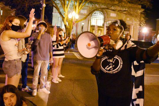 Protesters Saturday
