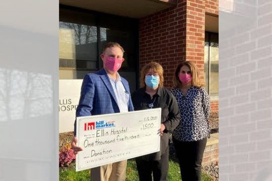 Jason Packer, CEO of Hill & Markes, Marcy Steiner, Vice President and Executive Director for The Foundation for Ellis Medicine, JoAnne Perniciaro, Account Executive at Maxwell-McKenney.