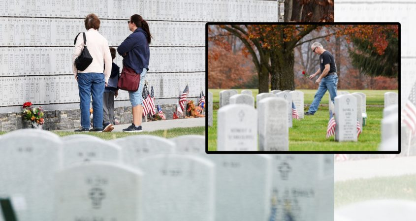 Images from Veterans Day at Gerald B.H. Solomon National Cemetery in Schuylerville
