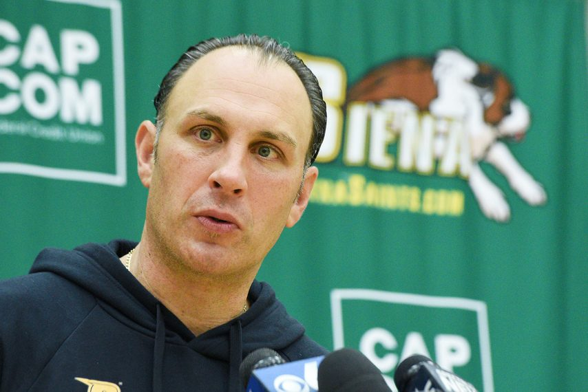 Siena College men's basketball head coach Carmen Maciariello during media day at Siena College in Loudonville on Oct. 20.