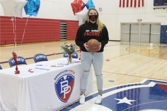 Broadalbin-Perth girls' basketball player Makenzie Smith signed her National Letter of Intent on Thursday to join the women's basketball program at the University of South Carolina at Aiken.