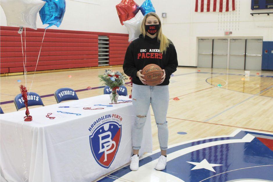 Broadalbin-Perth girls' basketball player Makenzie Smith signed her National Letter of Intent on Thursday to join the women's basketball program at the University of South Carolina at Aiken.