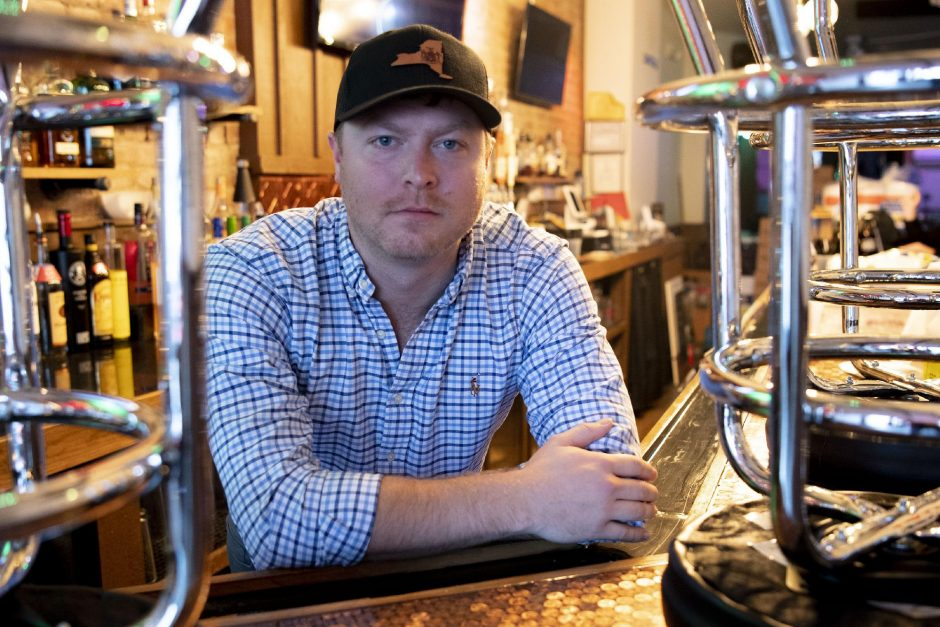 PETER R. BARBER/STAFF PHOTOGRAPHERJay Street Pub owner Mitchell Ramsey is pictured on Friday.