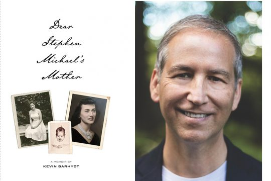"""Kevin Barhydt and the cover of his book,""""Dear Stephen Michael's Mother: A Memoir."""" (photos provided)"""