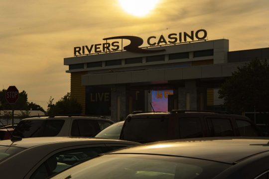 PETER R. BARBER/STAFF PHOTOGRAPHERThe sun begins to set behind Rivers Casino & Resort in Schenectady on reopening day following a nearly 6 month closure to prevent the spread of COVID-19 on Wednesday, September 9, 2020.