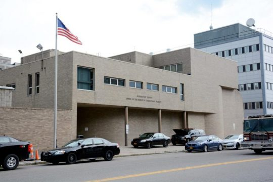 The exterior of the Schenectady County Jail in Schenectady is pictured.