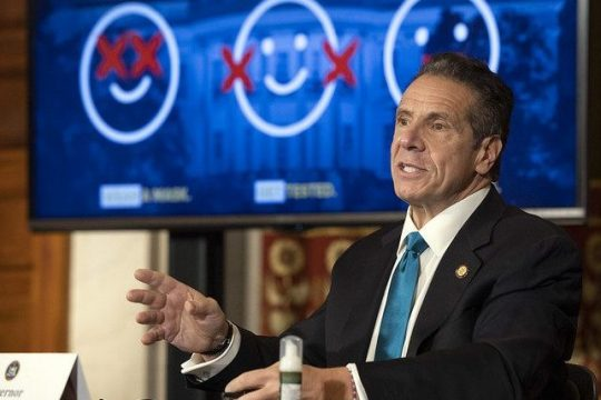 Gov. Andrew Cuomo holds a COVID-19 briefing on Oct. 26.