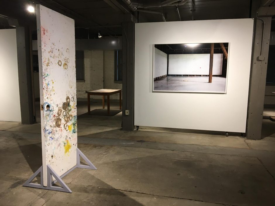 """Exhibit photo from """"Traces: 28 Days in Elizabeth Murray's Studio."""" (Indiana Nash/Staff Writer)"""