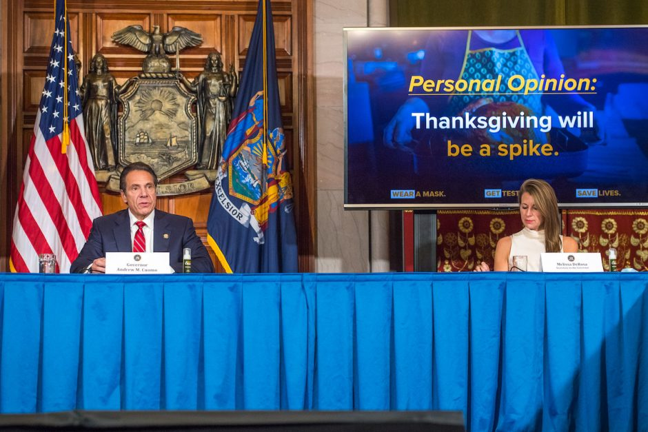 Governor Andrew Cuomo holds a press briefing on Coronavirus on November 18, 2020.