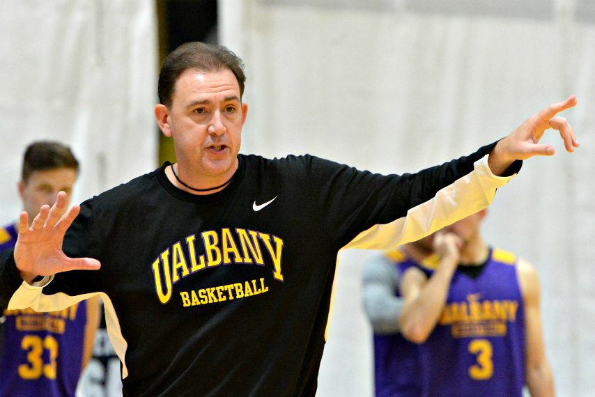 UAlbany men's basketball head coach Will Brown is shown. (Gazette file photo)
