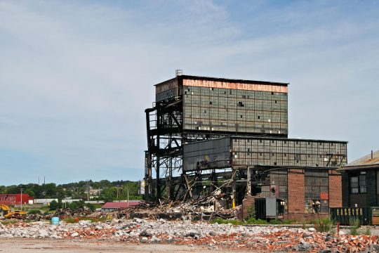 The old Alco locomotive factory in Schenectady isseen in June 2011.