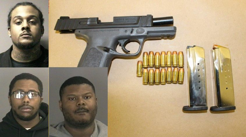 Top: George Cuffee. Bottom: Eliakim Cuffee and Datron T. Johnson; Items seized by police.