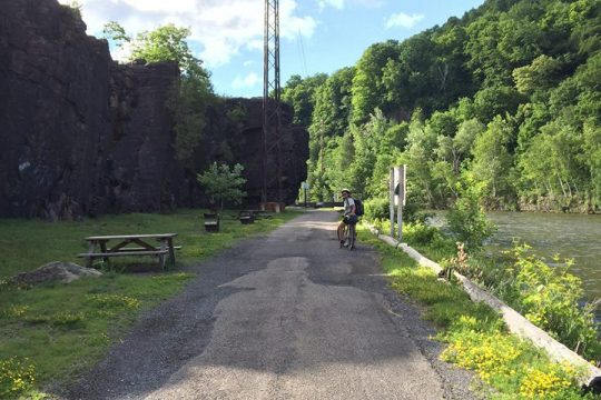 A stretch of the Erie Canalway Trail in Little Falls, Herkimer County, is pictured. (Gazette file photo)