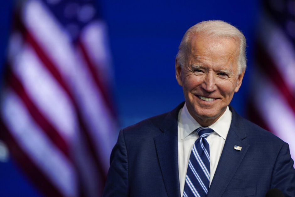 President-elect Joe Biden Nov. 10 in Delaware (AP Photo/Carolyn Kaster, File)
