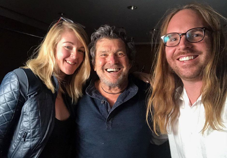 Ajax Phillips, left, with Rolling Stone magazine co-founder Jann Wenner, center, and Daniel Joseph Watkins. (photo provided)