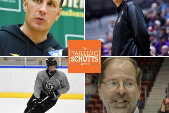 Gazette file photosSports editor Michael Kelly talks about the Siena and UAlbany basketball programs, Jack Adams discusses transferring from Union to Providence and ECAC Hockey commissioner Steve Hagwell speaks on playing with just four schools.