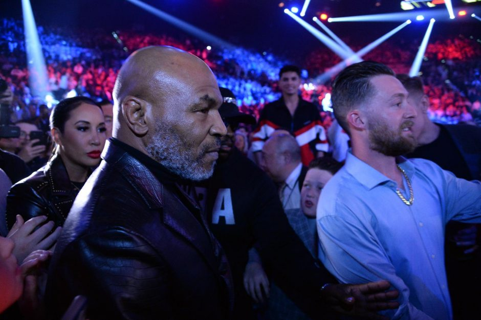 JOE CAMPOREALE/USA TODAY SPORTSMike Tyson attends the WBC heavyweight title bout between Deontay Wilder and Tyson Fury at MGM Grand Garden Arena on Feb. 22.