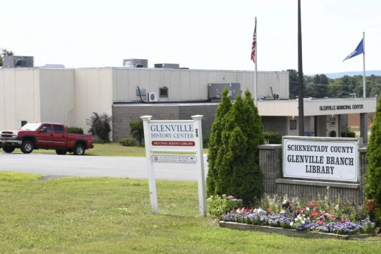 The Glenville Municipal Center is located next to the Glenville Library Branch, August 15, 2019.