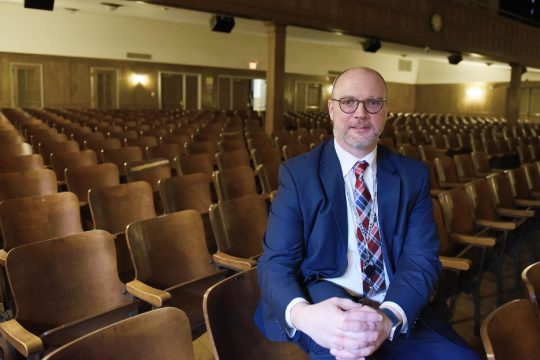 Schenectady City Schools Interim Superintendent Aaron Bochniak, shown here in April, says Kimberly Lewis will be available if needed, but not on-site. (Gazette file photo)