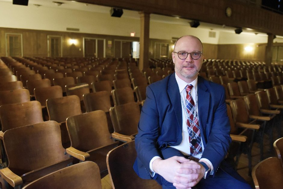Schenectady City SchoolsInterim SuperintendentAaron Bochniak,shown here in April, says Kimberly Lewis will be available if needed, but not on-site. (Gazette file photo)