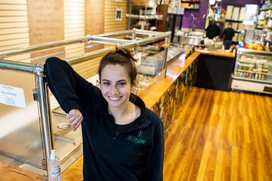 DillyBean owner Abby Rockmacher in her newly renovated store at 133 Jay St. in Schenectady on Friday.