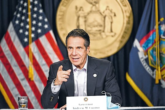 Gov. Andrew Cuomo is shown during a press conference last month. (NYS Office of the Governor)