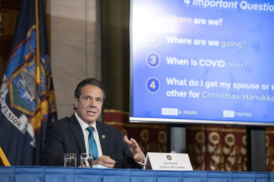 Gov. Andrew Cuomo Wednesday. Credit: Governor's Office