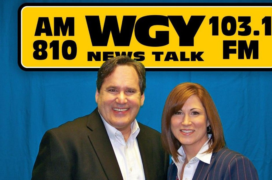 """Chuck Custer and Kelly Lynch from the WGY AM-810 """"Chuck and Kelly"""" morning radio show. (photo provided)"""
