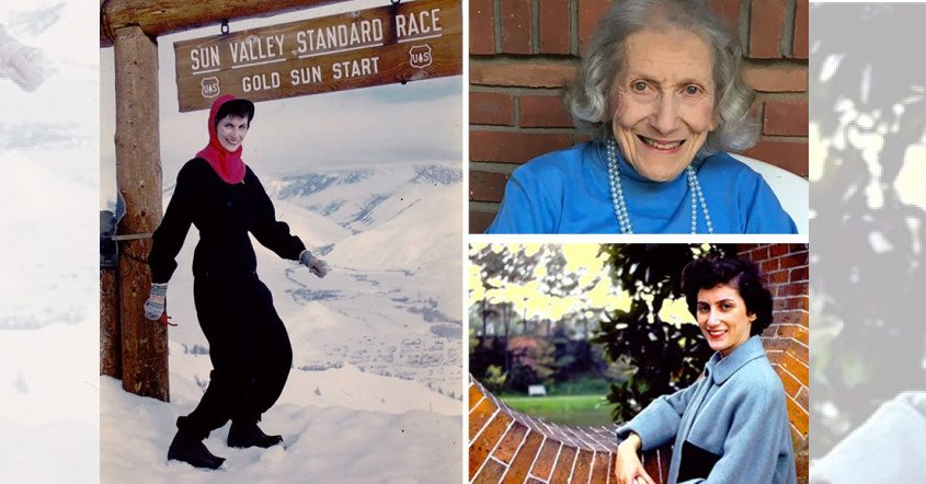 Alma Hurwitz, who lived in Schenectady for 75 years, took up skiing in her 40s and ski racing in her 60s, according to her daughter, Robin Inwald. She is shown in these photos. (photos provided)
