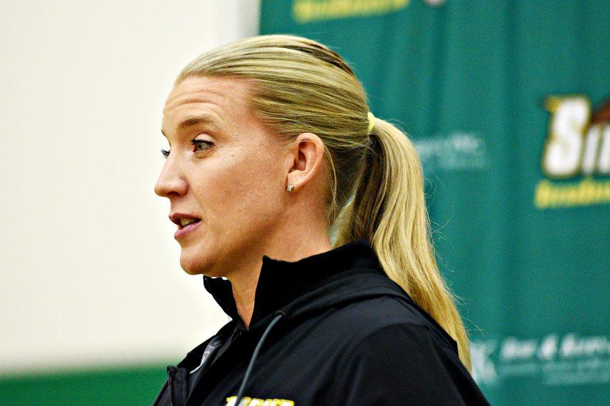Siena women's basketball head coach Ali Jaques is shown. (Gazette file photo)
