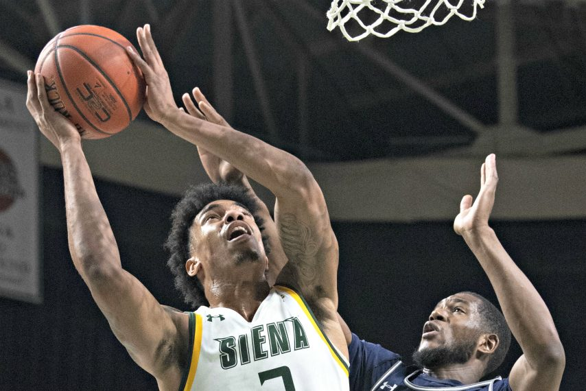 Siena's Manny Camper is shown during a game last season. (Gazette file photo)