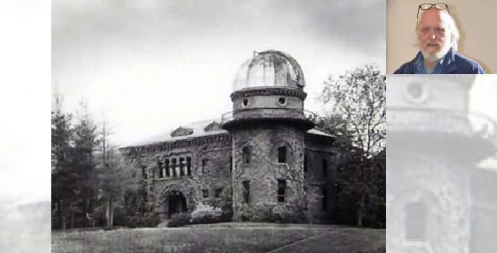The Dudley Observatory's original home in 1856 was this structure in Albany's Goat Hill. Inset: Bill Buell
